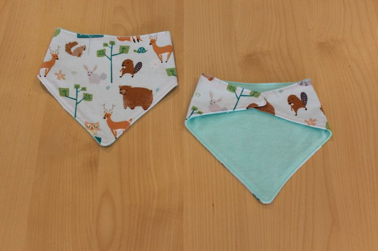 Woodland baby bandana/ dribble bib, available from my Etsy shop https://www.etsy.com/au/listing/243526775/reversible-bandana-bib-woodland-mint