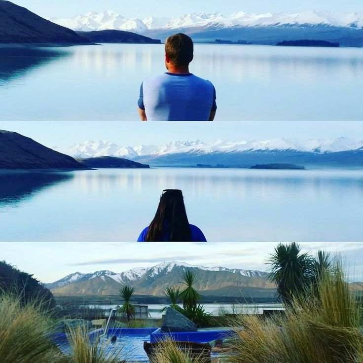 Lake Tekapo - camping adventures. Make sure to check out the hot springs here too! Nice and relaxing and you can stare at the mountains as you relax <3 #laketekapo #newzealand #travel #realmiddleearth #roadtrip