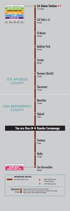 Rancho Cucamonga Station | Metrolink -Great way to relax into work each day.
