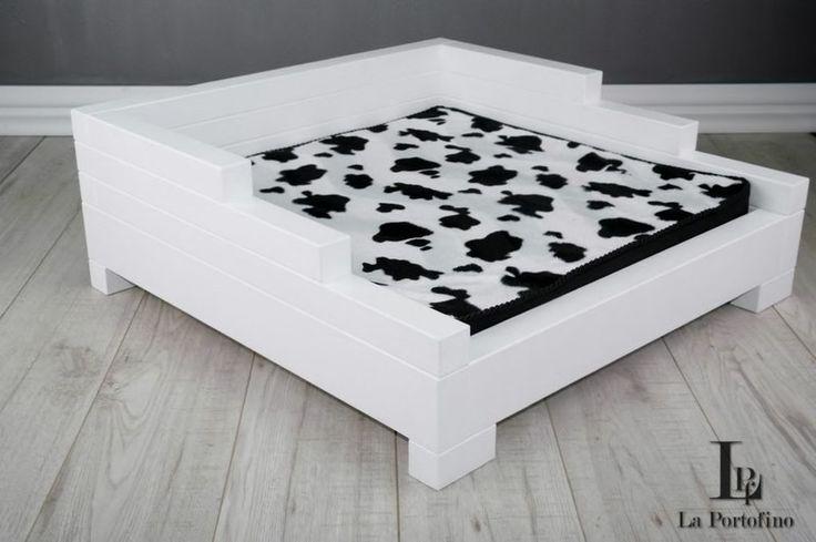 LD-4 40X60 cm Białe SOFA LEGOWISKO dla PSA Kota - LA_PORTOFINO - Legowiska dla psów