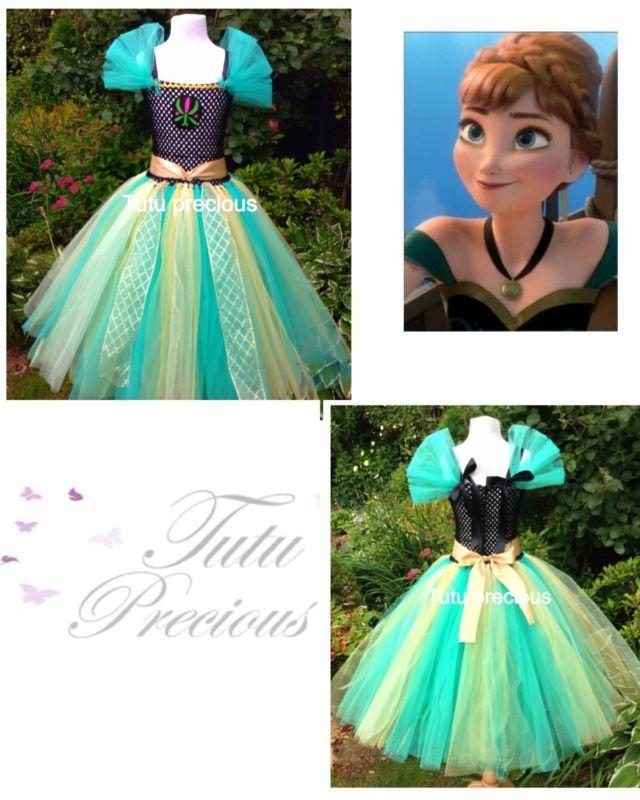 Anna (congelado) Vestido Tutú de inspiración Coronación-vestirse/Disfraz