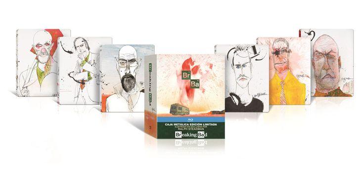 Breaking Bad Edición Limitada Caja Metálica ilustrada en exclusiva por Ralph Steadman incluye la serie completa