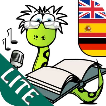 Dictionary for Children LITE (Languages: English, Spanish, German).. Under settings skal man vælge german. Så er det hele på tysk. Det er flashcards med udtale.