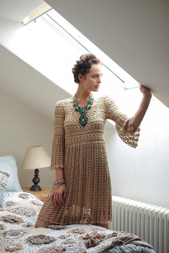 CROCHET moda exclusiva crochet vestido  por por LecrochetArt, $450.00