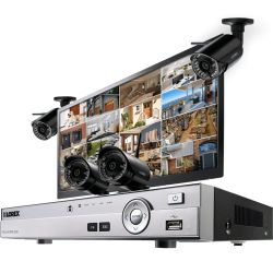 Wholesale Complete security camera system with 4 HD 720p wireless cameras and monitor Sale
