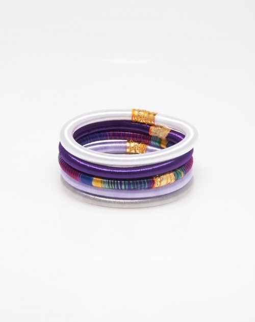 """A colorful stack of 5 bangles, perfect for your bikini and cover-up while enjoying a cocktail or afternoon tea at """"Maundays Club"""" at Cap Jaluca. This makes the perfect accessory for any occasion! www.hamptonbanglecompany.com #bracelets #fashion #jewelry #trend #style #accessory #sexy #bangles"""