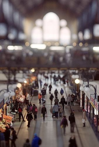 Central Market Hall, Budapest, Hungry #britairtrans #tiltshift