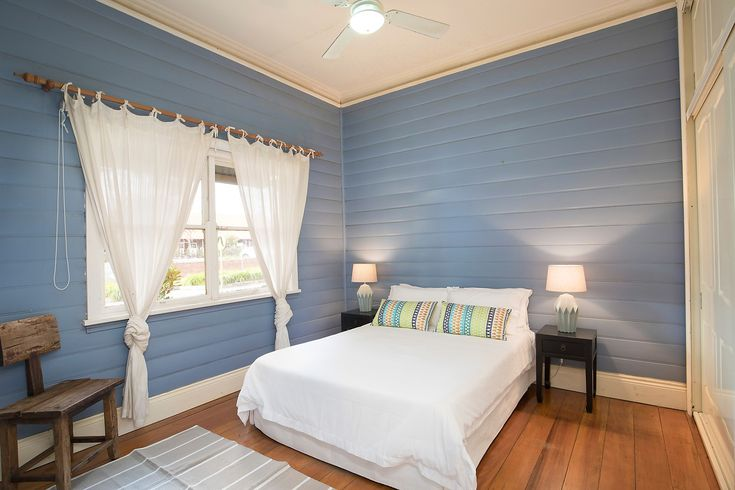 Character home on two titles with sunny garden, double bedroom, bedside tables, lamps, sitting chair, 260 Elswick Street Leichhardt, Pilcher Residential
