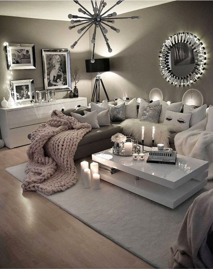 neutral living room ideas earthy gray living rooms to copy diy home decor home improvement. Black Bedroom Furniture Sets. Home Design Ideas