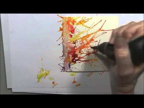 Brusho Paints With Eileen Part Four - YouTube