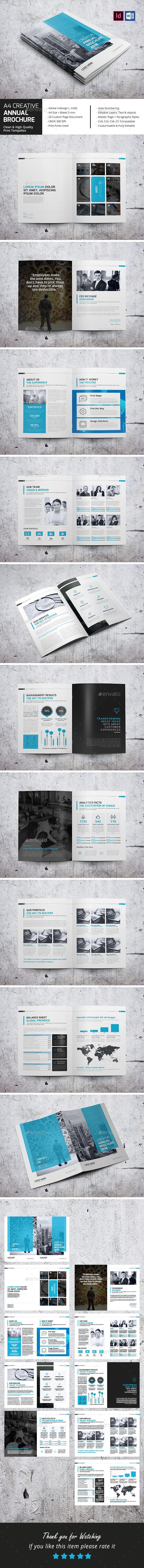 A4 Creative Annual Brochure - Corporate Brochures
