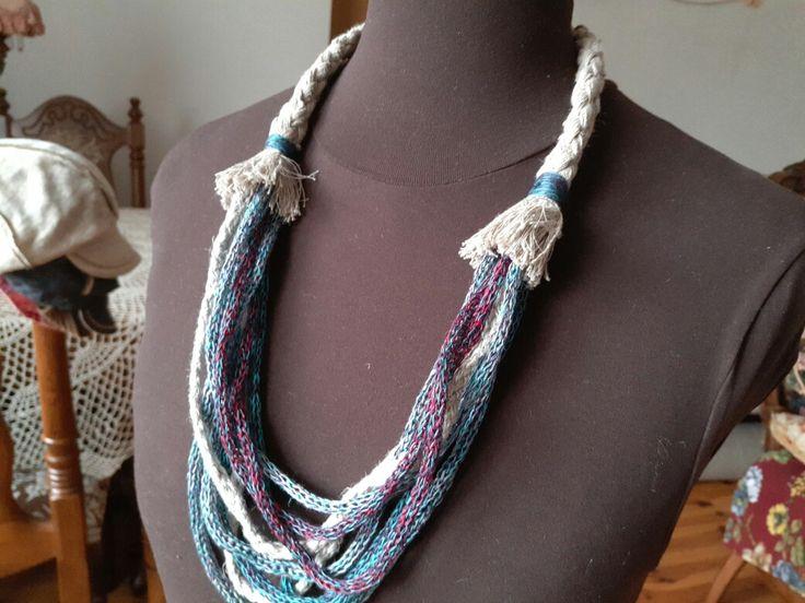 linen necklace linen strings handmade linen hit