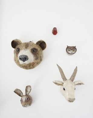 Wall Decor, Modern Art, Animal Head In Nurseries, Kids Room Decor, Baby Room, House, Wood Accent, Animal Wall, Animal Head For Wall