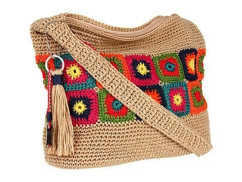 I'm feeling inspired by this #crochet granny bag from The Sak, a brand with great handcrafted crochet. #aff