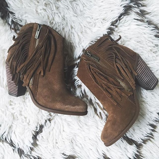 Fringe boots are our favorite boots. // Follow @ShopStyle on Instagram for more inspo.