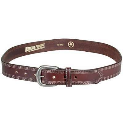Working Person's Store Belts: Men's Brown Leather Work Belt 18272 - Made In The USA