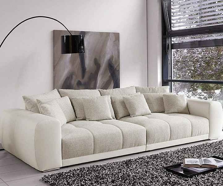 Delife Bigsofa Valeska Grau Cremeweiss 310x135 Xxl Sofa Big Sofa Deep Couch Delife Bigsofa Valeska Couch In 2020 Big Sofas Beige Couch Living Room Couches Living Room