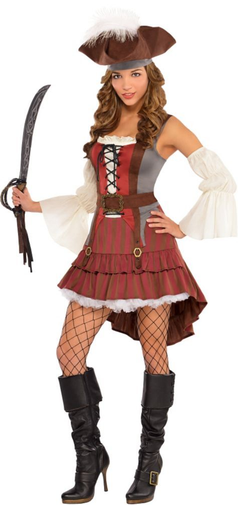 Adult Castaway Pirate Costume - Party City | Halloween ...