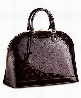 Cuir Marron Monogram Vernis Uni Sac Louis Vuitton Femme