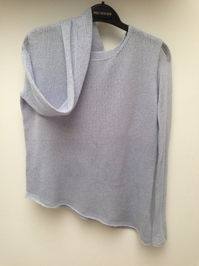 Silk and cashmere blend asymmetrical sweater