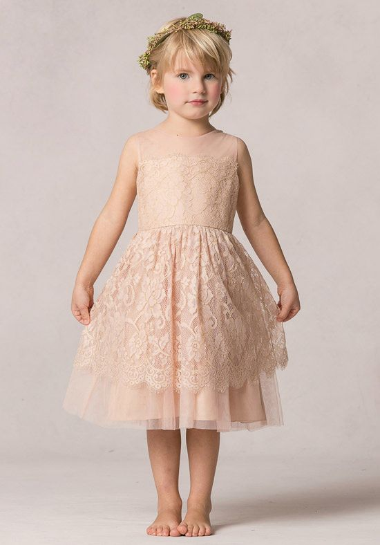 Stunning The Ella flower girl dress is a two tiered tea length dress This dress features