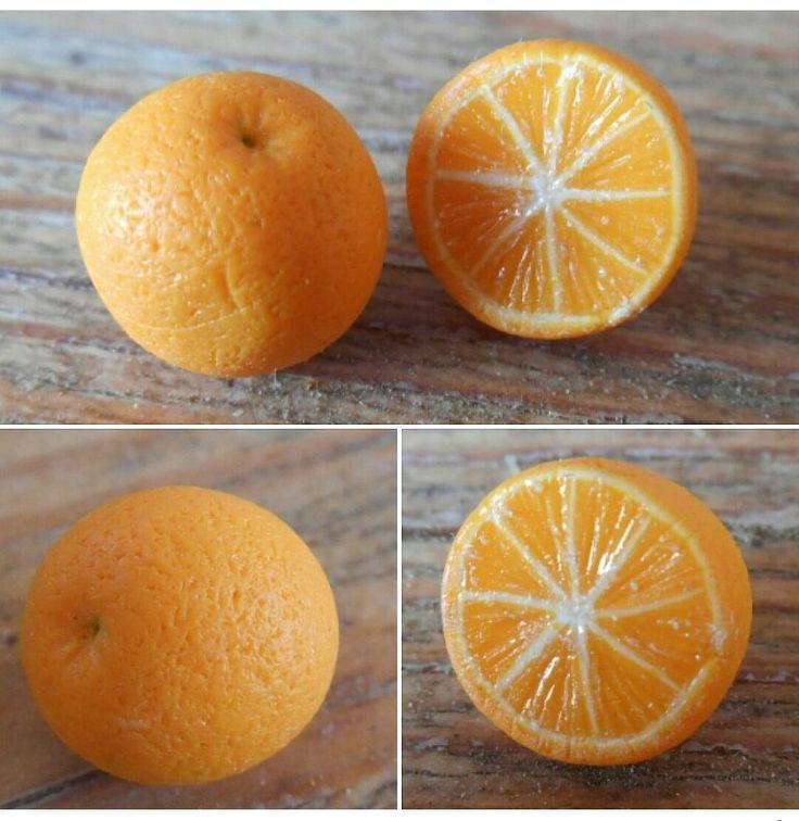 Oranges en pâte fimo.
