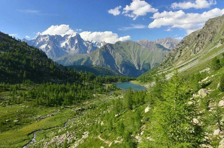 Lago d'Arpy, Morgex, Aosta, Italia