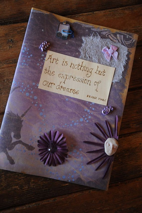 Fantasy sketchbook Journal Dream diary by WickedFaerieGifts, £9.99