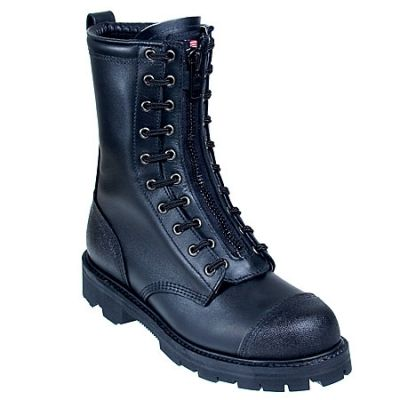 Thorogood Boots Men's 10 Inch Black 834-6373 USA-Made Wildland Fire Boots