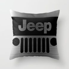 jeep logo Throw Pillow