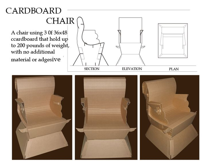 Attractive Full Size Cardboard Chair By Gafemonx