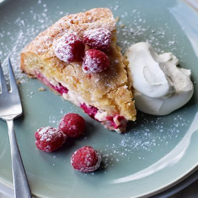 Raspberry and ricotta cake