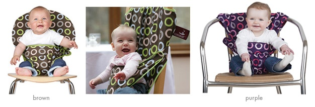 As seen in coolmompicks.com! Highchairs are great, but admittedly rather difficult to travel with...UNTIL NOW!  Meet Totseat, the babychair harness that allows you to turn any chair - from Chippendale to Eames, whether high-backed, low-backed, knobbly or even open-backed - into a safe place for your little one to sit.  Designed for babies eight to 30 months, it's really easy to use