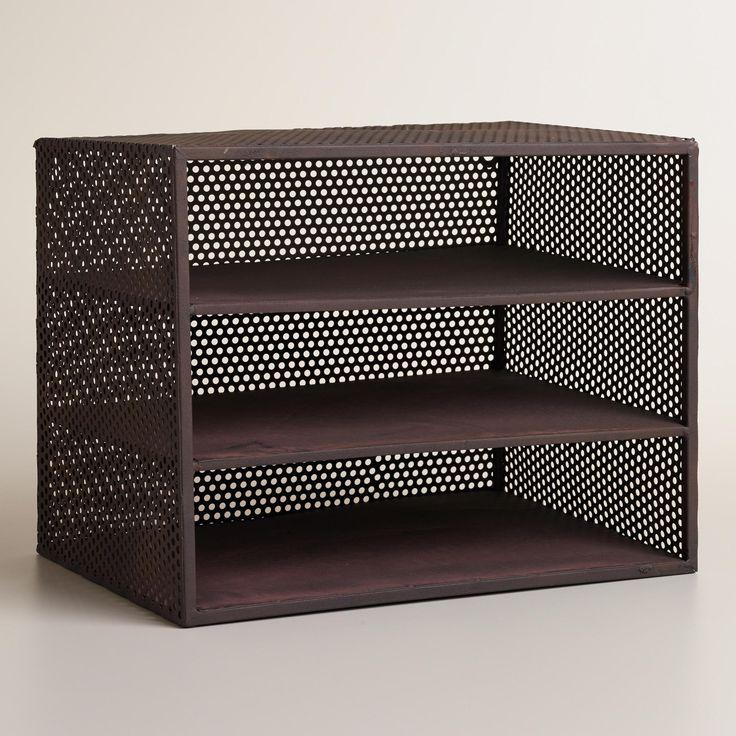 http://www.worldmarket.com/product/espresso metal yvette 3-shelf desk organizer.do?