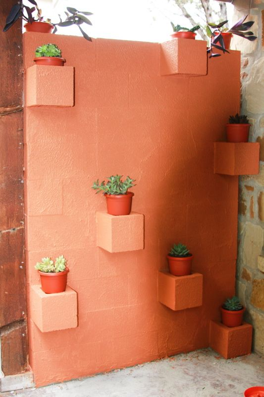 5 Ways to Use Cinder Blocks in the Garden • Lots of creative projects, ideas and tutorials! Including, from 'the info mine', this wonderful diy cinder block planter wall.