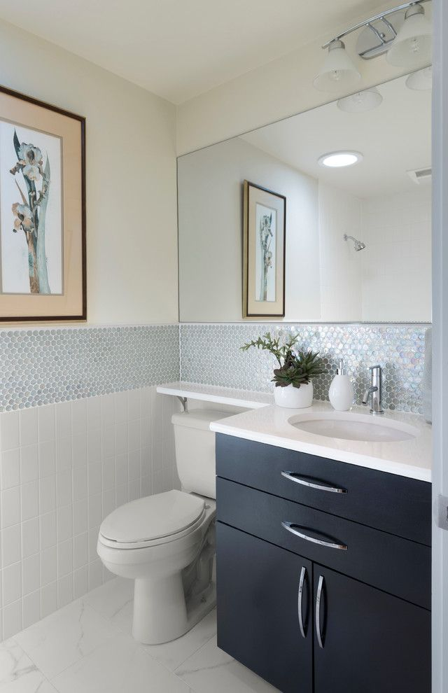 Banjo Countertop With Contemporary Surface Mount Medicine Cabinets