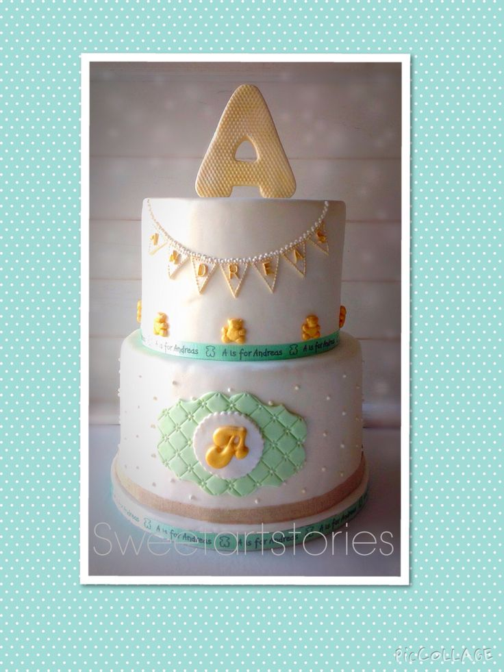 A christening cake for little Andreas...
