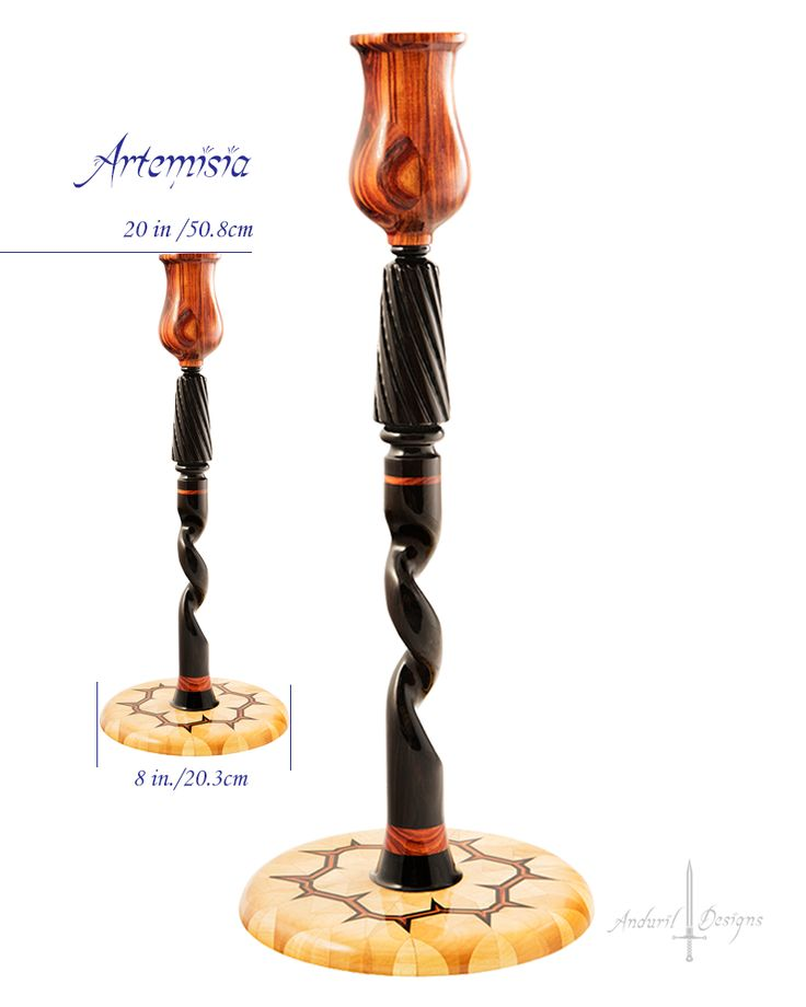 Unique handcrafted candlesticks by Anduril Designs CandlesticksArtisanCandle