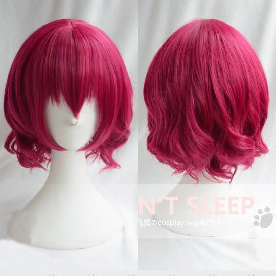 Free Shipping Akatsuki no Yona Short Curly Red Anime Cosplay Wig Yona Heat Resistant Synthetic Hair Wigs