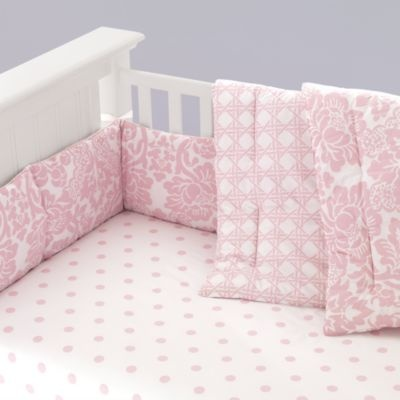 I love this simple pink bedding set with different patterns. Sweet! Land of Nod is awesome.