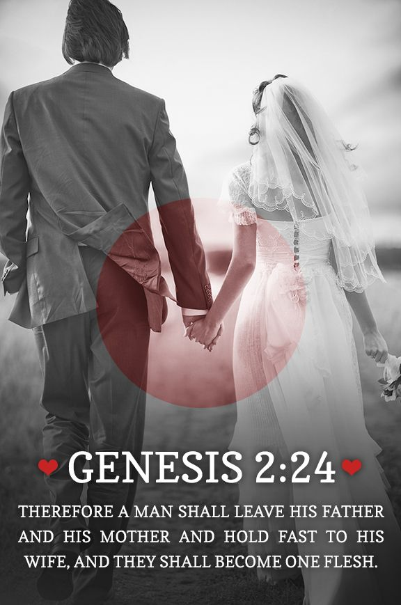 """Gen. 2:24 """" . The Lord so composed men and women that they need each other if they are to stay on the path of life.""""  quote from a good article noting the balancing of our natural differences as men and women together in Gods perfect plan..by rick Joyner.  amazing!"""