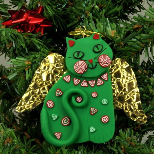 503 best CHRISTMAS CAT ORNAMENTS images on Pinterest | Christmas ...