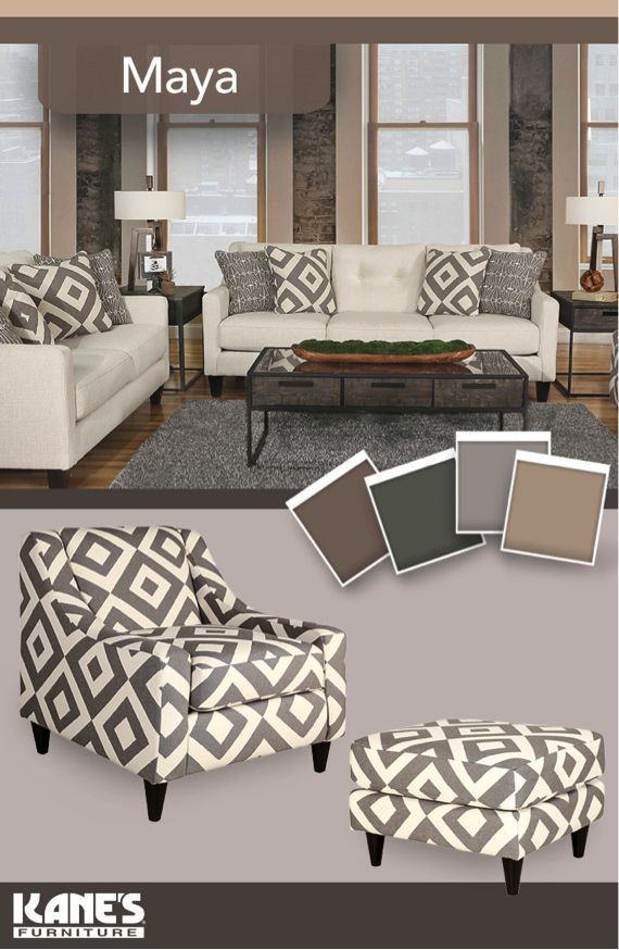 Trendsetters And Interior Gurus Will Love The Maya Living Room Collection With Unique Diamond Patterns