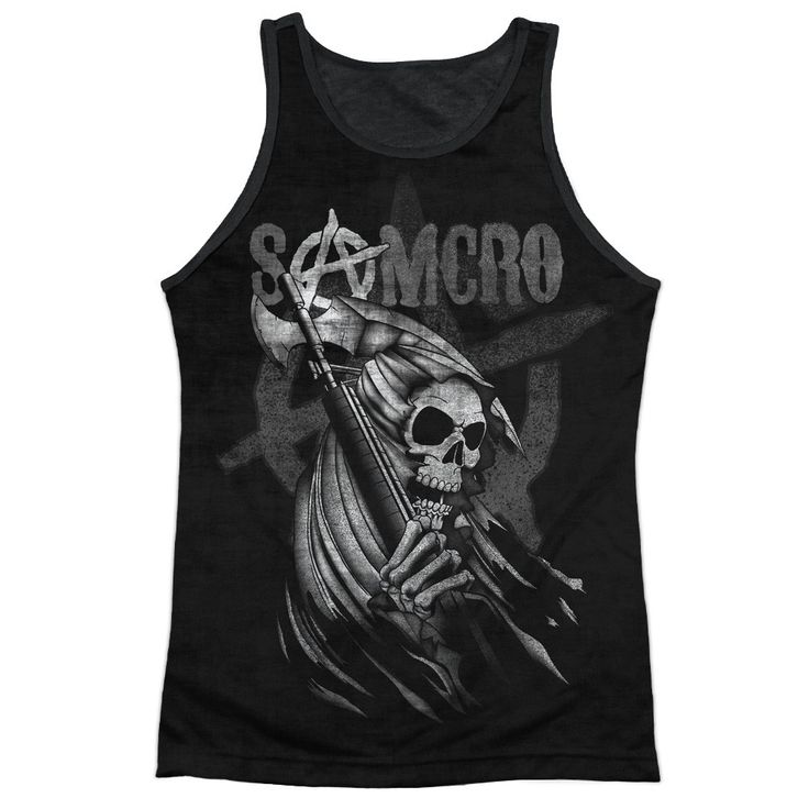 """Checkout our #LicensedGear products FREE SHIPPING + 10% OFF Coupon Code """"Official"""" Sons Of Anarchy/somcro Reaper-adult Poly Tank Top T- Shirt - Sons Of Anarchy/somcro Reaper-adult Poly Tank Top T- Shirt - Price: $24.99. Buy now at https://officiallylicensedgear.com/sons-of-anarchy-somcro-reaper-adult-poly-tank-top-t-shirt-licensed"""