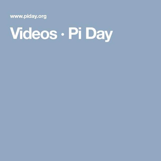 Videos · Pi Day