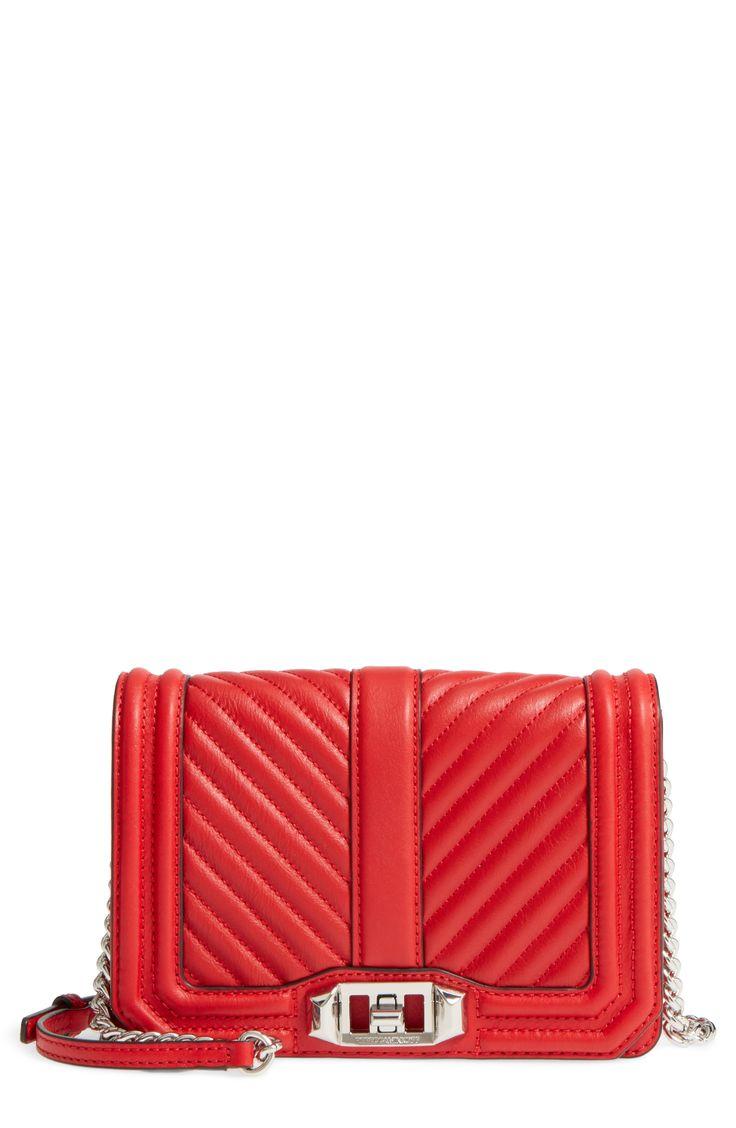 Small Love Quilted Leather Crossbody Bag - Rebecca Minkoff #crossbody #handbag #bag #affiliatelink
