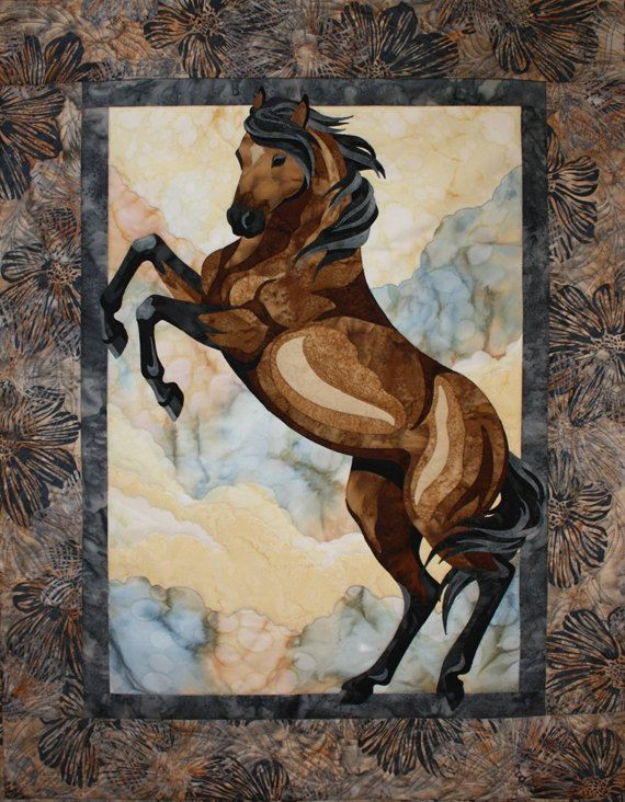 Toni Whitney Designs Pattern, The Guardian, Horse Quilt, Quilting DIY