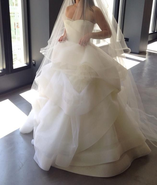 Vera Wang Katherine 120413: buy this dress for a fraction of the salon price on PreOwnedWeddingDresses.com                                                                                                                                                                                 More