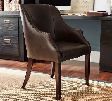 Laurel Leather Desk Chair #potterybarn