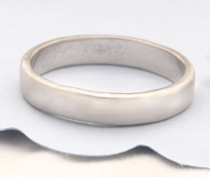 Recycled 14k Gold Wedding Band, Man Wedding Band, Woman Wedding Band. Made To Order In White Gold, Rose Gold And Yellow Gold.. $550.00, via Etsy.